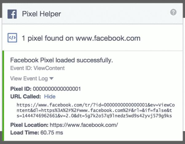 תמונה מתוך pixel helper